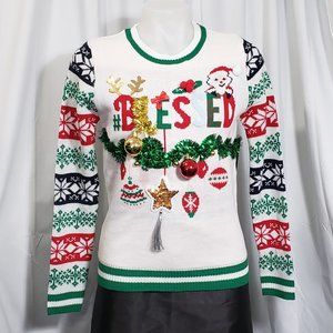 """""""Blessed"""" Christmas Sweater NWT"""
